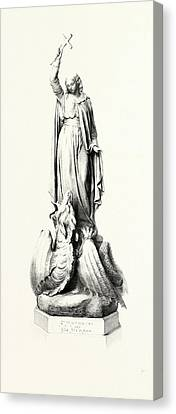 St. Margaret And The Dragon Canvas Print by English School