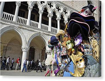 St Mark Square By Doges Palace Canvas Print by Sami Sarkis