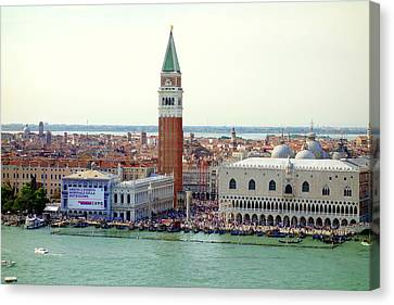 St. Mark Square Canvas Print by Valentino Visentini