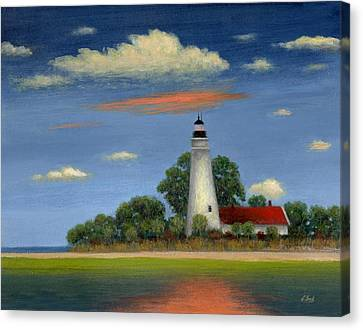 Historic Site Canvas Print - St. Mark's Light Florida by Gordon Beck
