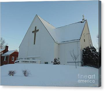 St. Marks Lutheran Church Canvas Print by Charlotte Gray