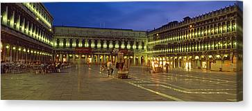 St. Marks Square Lit Up At Night Canvas Print