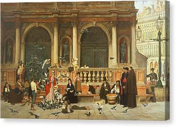 St. Marks, Venice Canvas Print by Adolf Echtler