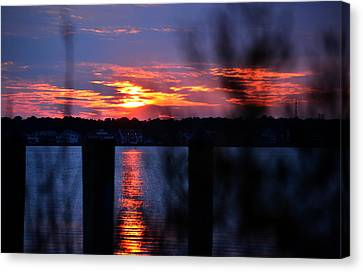 Canvas Print featuring the photograph St. Marten River Sunset by Bill Swartwout