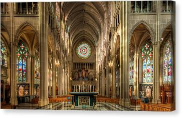 St. Mary Cathedral Basilica Of The Assumption Canvas Print by Keith Allen