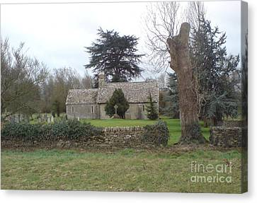 St Mary Church Ampney Canvas Print by John Williams