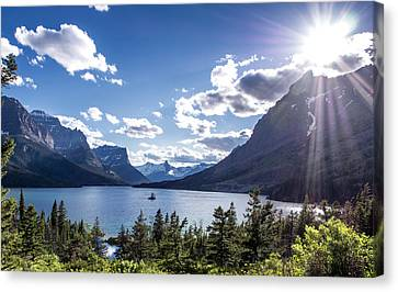 Glacier National Park Canvas Print - St. Mary Lake by Aaron Aldrich