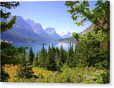 St. Mary Lake Canvas Print by Bob Hislop