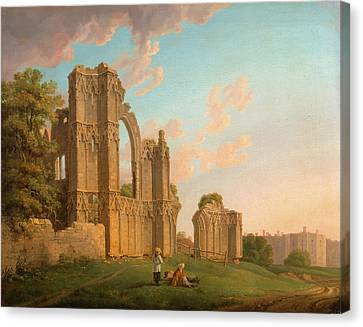 St. Marys Abbey, York Signed, Lower Left Marooker A Pinxt Canvas Print by Litz Collection