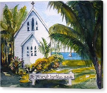 St Marys By The Sea - Original Sold Canvas Print by Therese Alcorn