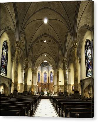 Canvas Print featuring the photograph St Mary's Catholic Church by Lynn Geoffroy