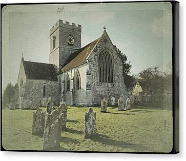 St Marys Church Dinton And Churchyard Canvas Print by John Colley