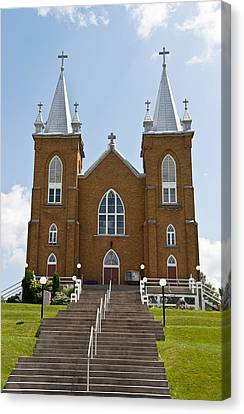 Canvas Print featuring the photograph St Mary's Church In Wilno Ontario Canada by Marek Poplawski