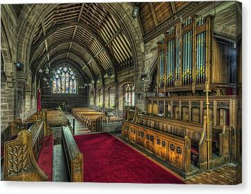 St Marys Church Organ Canvas Print by Ian Mitchell