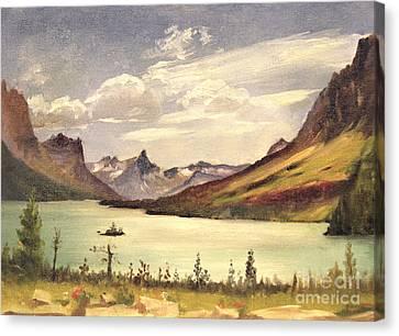 St. Marys Lake- Glacier Park 1935 Canvas Print