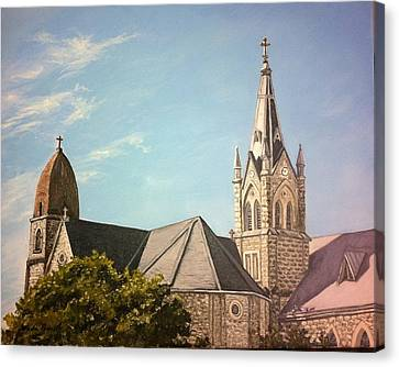 Kirche Canvas Print - St. Mary's Old And New by Wade Powell