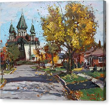 St. Marys Ukrainian Catholic Church Canvas Print by Ylli Haruni