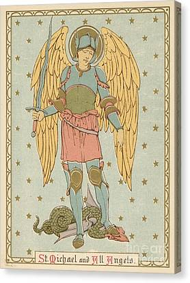 Red Letter Days Canvas Print - St Michael And All Angels By English School by English School