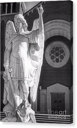 St. Michael The Archangel Canvas Print by Brian Druggan
