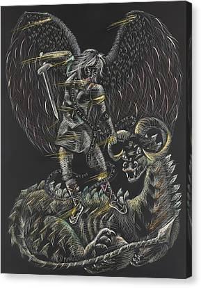 St. Michael The Archangel Canvas Print by Michelle Miller