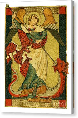 St Michael Triumphant Over The Devil Antique Painting Canvas Print