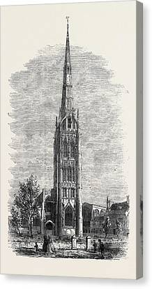 St. Michaels Church Coventry Canvas Print by English School