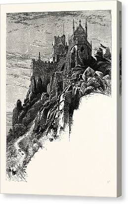 St. Michaels Mount, Cornwall, Uk, Britain Canvas Print by English School
