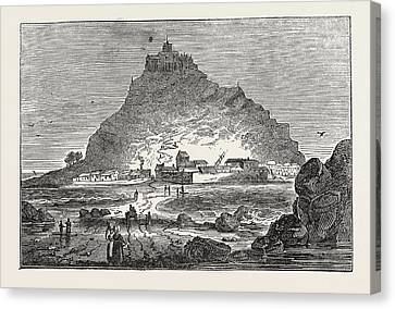 St. Michaels Mount Canvas Print by English School