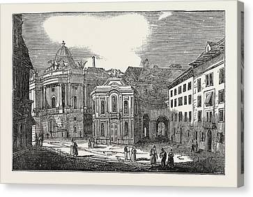 St. Michaels Place, And The Imperial Palace Canvas Print by Austrian School