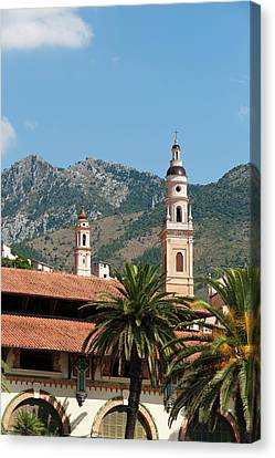 St Michel Church Bell Tower And Old Canvas Print by Sergio Pitamitz
