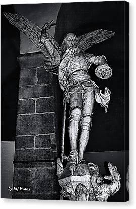 Canvas Print featuring the photograph St. Michel Slaying The Dragon by Elf Evans