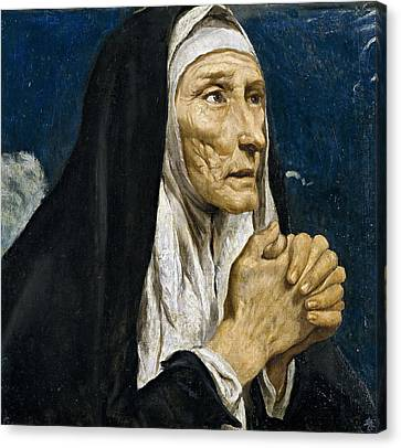 St Monica Canvas Print