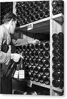 St. Moritz Bottles Of Wine Canvas Print