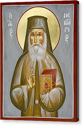 St Nektarios Of Aegina Canvas Print by Julia Bridget Hayes