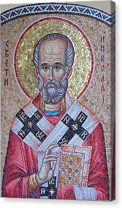 St. Nicholas Canvas Print - St Nicholas by Milan Pilipovic
