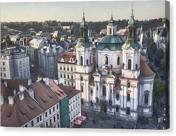Christian Canvas Print - St Nicholas Prague by Joan Carroll