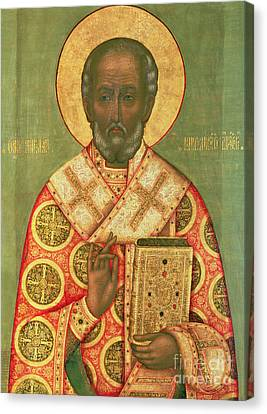 St. Nicholas Canvas Print by Russian School