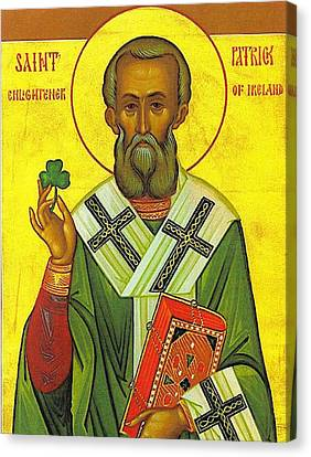 St Patrick And The Shamrock Canvas Print by Pam Neilands