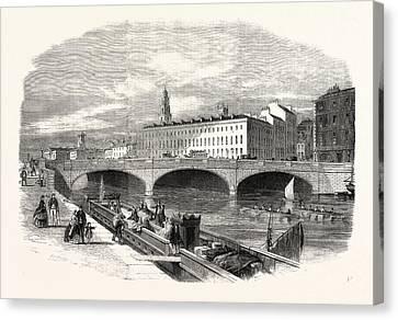 Cork Canvas Print - St. Patricks Bridge, Cork by English School
