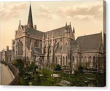 St Patrick's Cathedral - Dublin Ireland 1897 Canvas Print