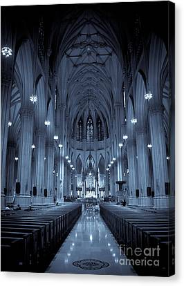 St. Patricks Cathedral Canvas Print by Ken Marsh