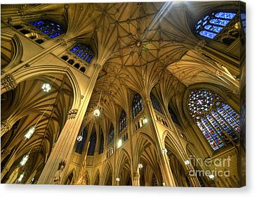 St Patrick's Cathedral - New York 2.0 Canvas Print by Yhun Suarez