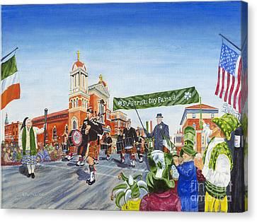 St. Patrick's Day Parade Canvas Print by Austin Burke