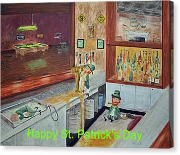 St Patricks Day Card Canvas Print
