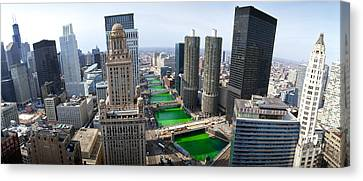 St. Patricks Day Chicago Il Usa Canvas Print by Panoramic Images