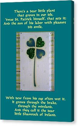 St. Patrick's Day Greetings Canvas Print