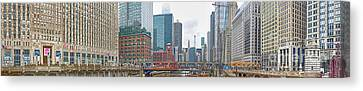 St. Patrick's Day In Chicago Canvas Print by David Bearden