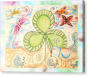 St Pattys Day Lunch Canvas Print