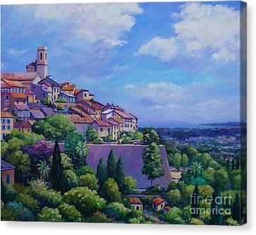 St Paul De Vence  20x16 Canvas Print by John Clark
