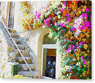 St Paul De Vence Canvas Print